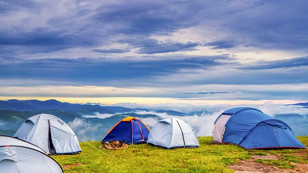 Camping on hills